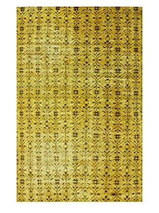 nuLOOM One-of-a-Kind Hand-Knotted Vintage Turkish Overdyed Rug, Yellow, 5' 8