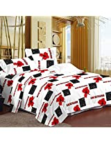 Urban style 100% Cotton Sleek Double Bed Bedsheet With Two Pillow covers