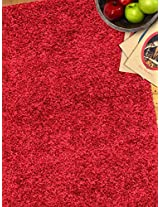 Hot red rug