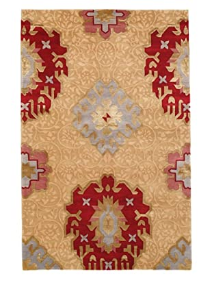 Rug Republic One Of A Kind Hand Knotted Wool & Silk Rug, Multi, 3' 9