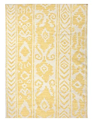 Jaipur Rugs IncRUG102558Flat-Weave Tribal Pattern Wool Yellow/Ivory Area Rug