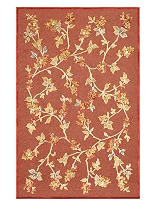 Flores Rug, Red, 5' x 7' 6