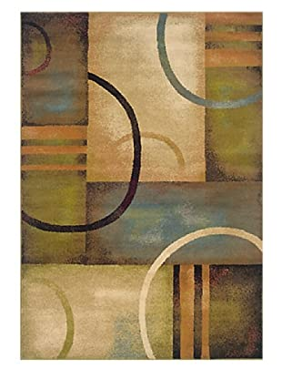 Granville Rugs Aiden Rug (Cream/Brown/Multi)