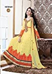 Yellow Georgette Designer Ankle Length Anarkali Suit