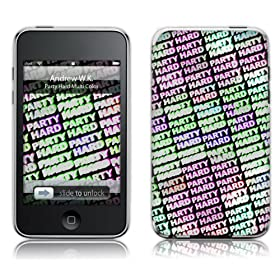 Music Skins iPod Touch 8GB (2) / 32GB 64GB (3) ptB  Andrew WK - Party Hard Multi Color  iPod Touch 8GB (2) / 32GB 64GB (3)   MSRKIPT20211