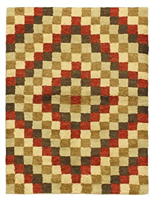 Hand-Knotted Marrakech Rug, Beige/Brown/Green/Orange, 4' 7