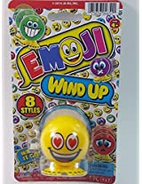 "Emoji 3"" Wind Up Toy Yellow I Love You Face Figure"