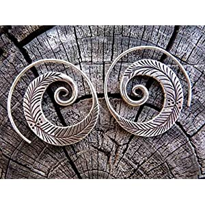 The Desi Soul Spiral Native Earrings