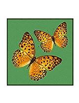 Leaf Designs Green Butterfly Trivet - Set Of 6