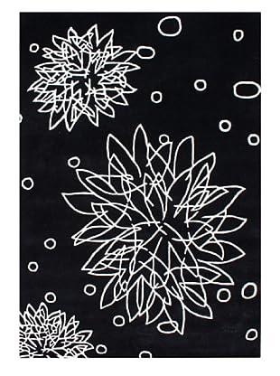 Horizon Adeel Floral Sketch Rug (Ivory/Black)