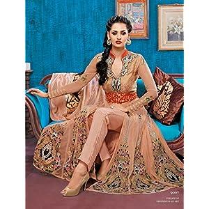 LifeStyleFashionStore Anarkali Salwar Kameez - Peach