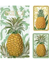 Royal Pineapple Bridge 2 Score Pads Gift Set Playing Cards (Jumbo Type)