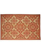 Agra Dari Woolen Carpet - 48'' x 72'' x 0.4'', Red