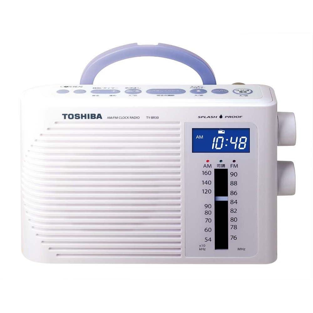 TOSHIBA 防水形クロックラジオ CUTEBEAT ホワイト