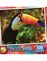 Puzzle Bug 100 Piece Puzzle ~ Colorful Toucan