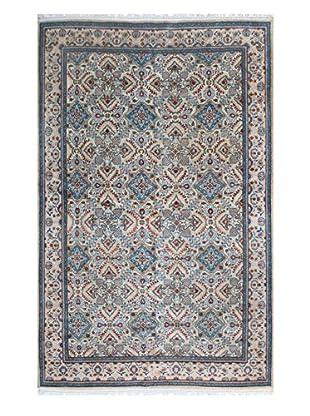 The Rug Market Kashan Sabzi Rug, Ivory/Blue, 7' x 10'