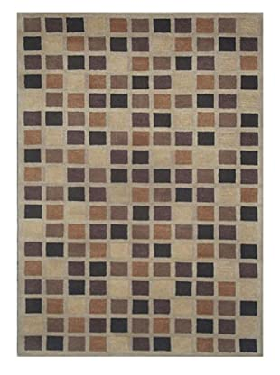 Mili Designs NYC Brown Pixels Rug, 5' x 8'