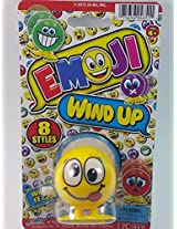 "Emoji 3"" Wind Up Toy Yellow Silly Face Figure"