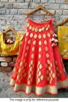 Bollywood Replica Model Pure Net Lehenga In Red and Yellow Colour NC1091