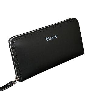 VACUA ヴァキュア 長財布 メンズ スペインレザー 牛革 多機能 ラウンド長財布