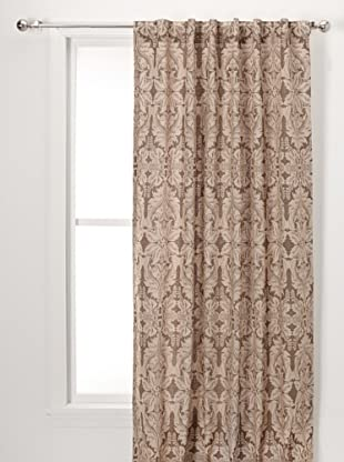 Damask Print On Linen Lined Pane (Natural)