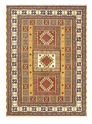 Hand-Knotted Royal Kazak Wool Rug, Light Brown, 5' 9