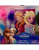 Disney Frozen Diary with 2 Marabou Pens