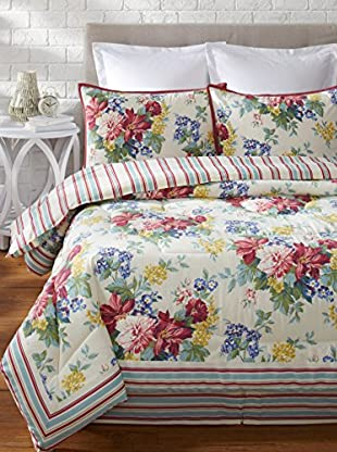 Laura Ashley Melinda Comforter Set (Ivory/ Pink)