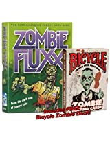 The Walking Bundle: Zombie Fluxx, the Ever-Changing Zombie Card Game, PLUS a Zombie Deck of Bicycle