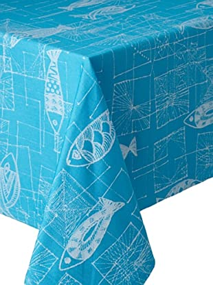 Garnier-Thiebaut Mille Mica Tablecloth (Turquoise)