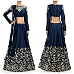 Sdfashions Style - Navy Blue Color Raw Silk Lehenga - S223-Navy Blue (Sia -S-Series)