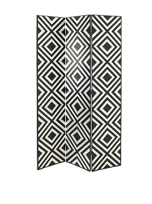 Charleston Silver Block Screen (Black/Silver)