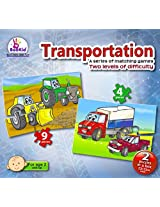 Toddlers Puzzle Games Transportation. Two Puzzles In A Box. For 2+ Years Old