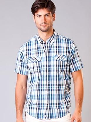 Timberland Camisa (Blanco / Azul Celeste / Azul)