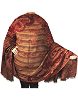 Paisley Scarves and Wraps Womens Wool India Clothes (82 x 42 inches)