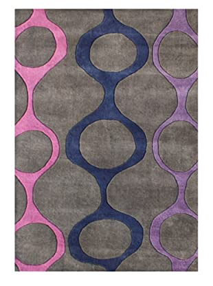 Horizon Alliyah Collection Geo Chains Rug (Lavender/Grey Multi)