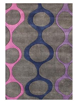Horizon Alliyah Collection Geo Chains Rug (Lavender/Grey Multi)