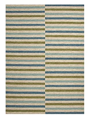 Jaipur Rugs Inc. Stripe Pattern Blue Indoor/Outdoor Rug (Blue)