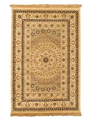 Isfahan Kashmir Traditional Rug, Beige, 5' 2