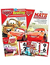 Disney Cars Workbooks Super Set Toddler Kids 2 Workbooks (Alphabet, Colors And Shapes), Numbers Flash Cards, Reward Stickers
