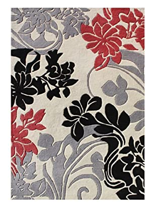 Horizon Rugs New Zealand Wool Rug (White/Gray/Red/Black)