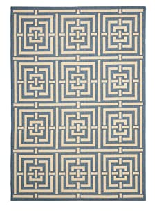 Indoor/Outdoor Intersect Rug (Blue/Bone)