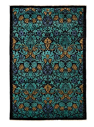 Darya Rugs Pakistani Modern Oriental Rug, Black, 8' 1