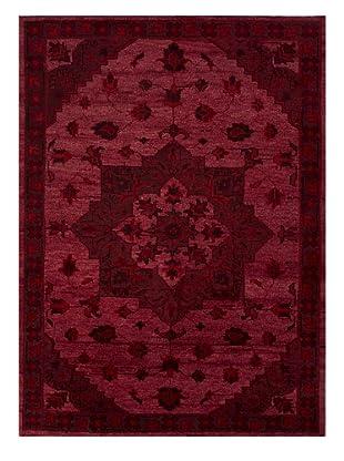 Jaipur Rugs Hand-Knotted Wool Rug, Velvet Red, 5' x 8'