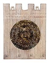 Vintage White Wood Polished Vintage Keys Holder By Rajrang