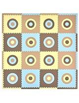 Tadpoles 16 Piece Squared Playmat Set (Blue/Brown)