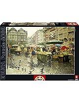 Educa Produce Market Basel Puzzle, 6000-Piece