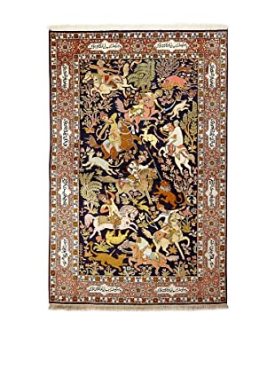 Roubini Srinagar Silk Fine Rug, Multi, 4