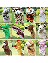 Hand Puppets Chinese Zodiac Animal Zoo 12 Pcs Educational Toy For Kids By Lanlan