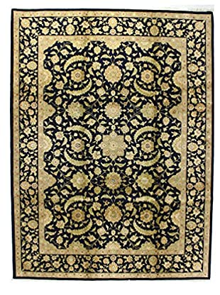 Bashian Rugs One-of-a-Kind Hand Knotted Wool/Silk Rug, Navy, 8' 9